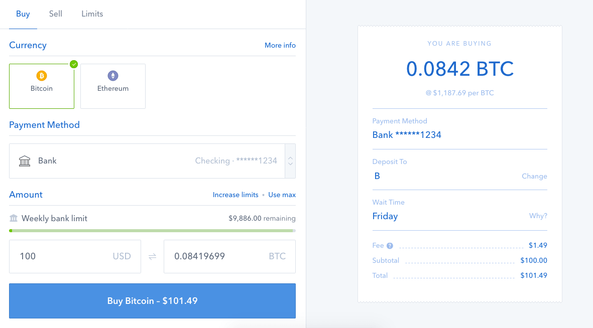 Coinbase Purchases